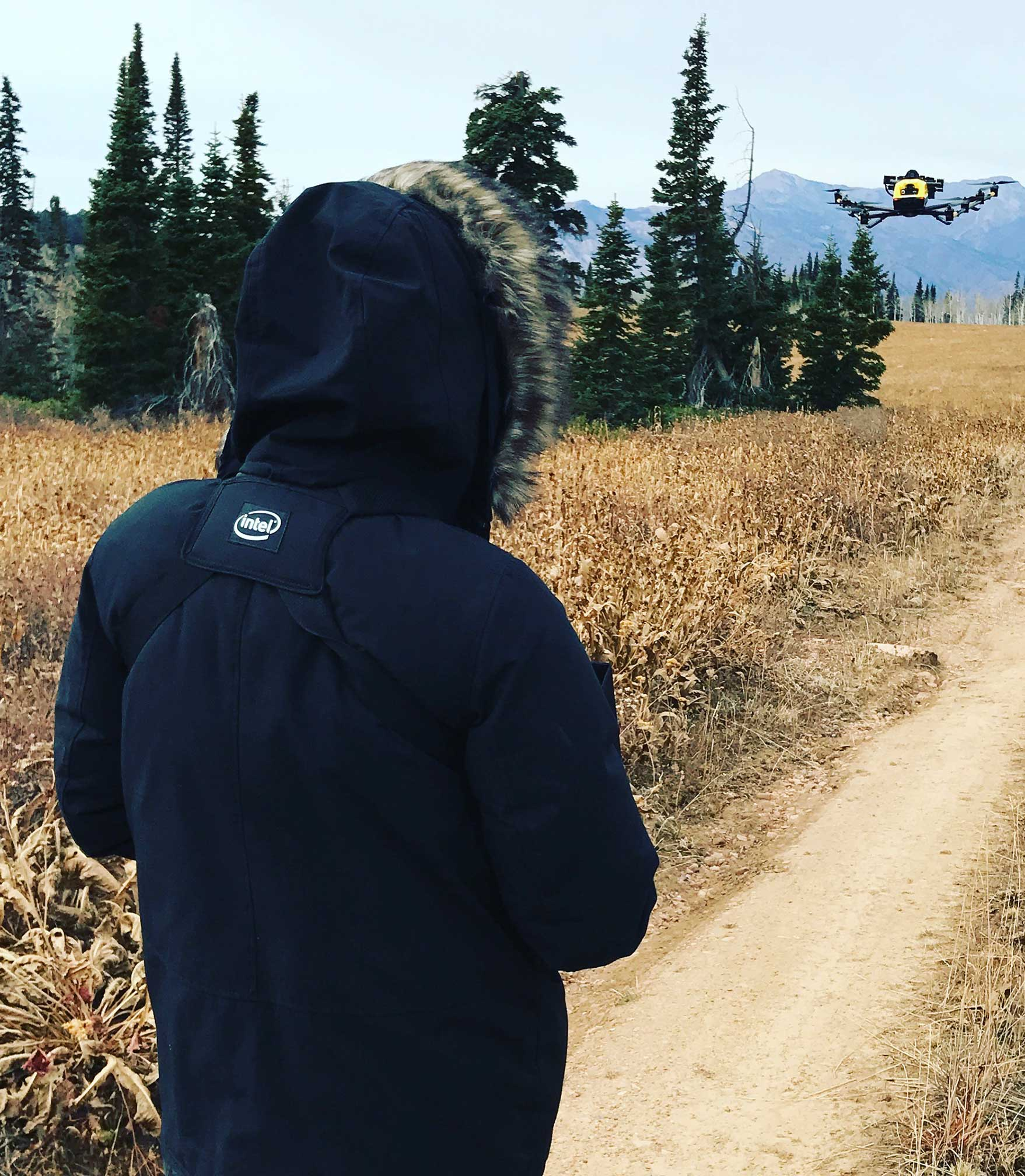 LAEP Student Flies Drone.