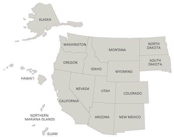 Map of participating WRGP States